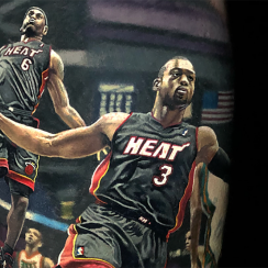 Dwyane Wade, LeBron James,  Dwyane Wade, LeBron James Tattoo, miami heat, heat, miami, lebron james heat, cavaliers, cavs