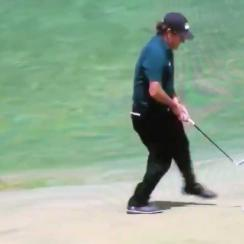 We've never seen Phil Mickelson do anything quite like this.