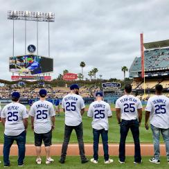 Sandlot renuion at Dodger Stadium
