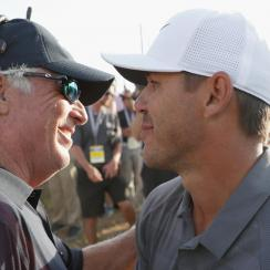 Brooks Koepka and Curtis Strange at US Open 2018