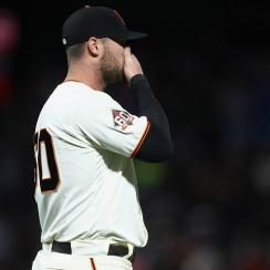 Hunter Strickland, hunter strickland finger, marlins, giants, san francisco giants
