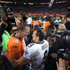 Peyton Manning, Drew Brees, saints, broncos, colts,