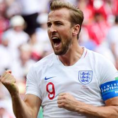 Harry Kane scores for England vs. Panama at the World Cup
