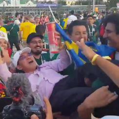 mexico fans celebrate south korea win germany