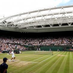 Wimbledon centre court grass roger federer