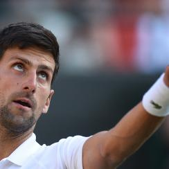 Wimbledon day two novak djokovic tennys sandgren