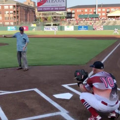 104-year-old World War II veteran first pitch, Memphis Redbirds, frank anderson