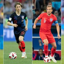 Brazil, Croatia, England and France are competing in the World Cup quarterfinals