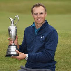 Jordan Spieth won the 2017 British Open at Royal Birkdale by three shots over Matt Kuchar.