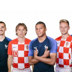 France and Croatia meet in the World Cup final