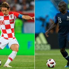 Luka Modric will go head-to-head with N'Golo Kante in the World Cup final