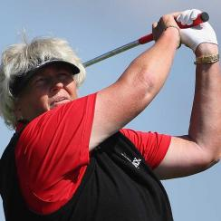 Laura Davies was in control all day on Sunday.