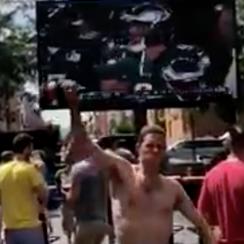 Philadelphia Eagles fans watch Super Bowl after World Cup
