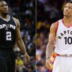 Kawhi Leonard and DeMar DeRozan