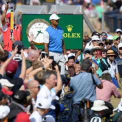 British Open Championship: Tiger Woods wows Russell Knox, shoots even-par in first round