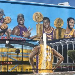 second-lakers-mural-vandalized