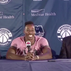 Dwight Howard's Wizards joke at press conference (video)