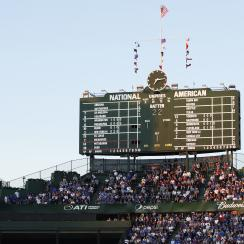 Cubs fan wearing bucket saved from injury at Wrigley Field