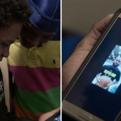 LeBron James surprises kid in YouTube 'Best Shot' series