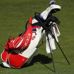 Marijuana in abandoned golf bags