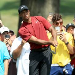 Tiger Woods sunday bridgestone invitational score