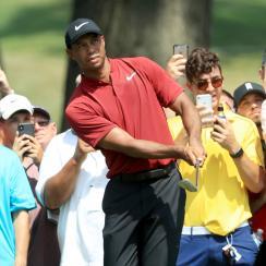 Tiger Woods sunday bridgestone invitational score