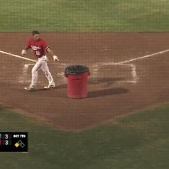 Indie baseball player Brennan Metzger ejected, brings trash can