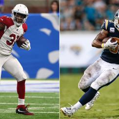 Cardinals RB David Johnson and Rams RB Todd Gurley