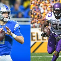 Lions QB Matthew Stafford and Vikings RB Dalvin Cook