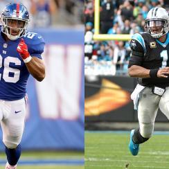 Giants RB Saquon Barkley and Panthers QB Cam Newton