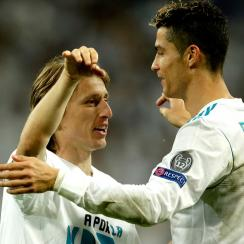 Cristiano Ronaldo and Luka Modric are up for UEFA Best Player honors