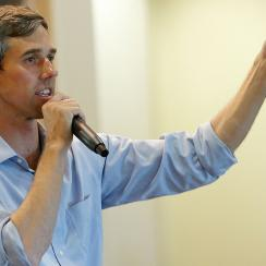 beto orourke nfl national anthem protest question