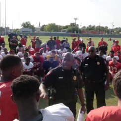 Houston football: Cops called for scholarship surprise (video)