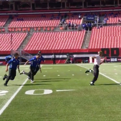 Cleveland Browns security practices tackling fan (video)