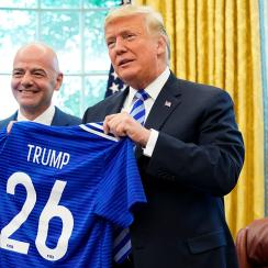 Gianni Infantino, FIFA President, donald trump, oval office, US Soccer Federation, Carlos Cordeiro