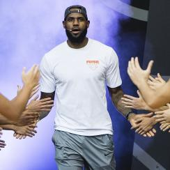 LeBron James at the Rise Academy Challenge in Hong Kong