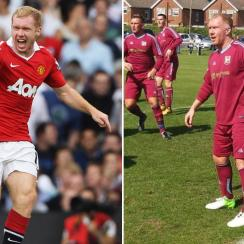 Paul Scholes: Manchester United icon plays for Royton Town