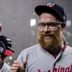 Sean Doolittle: Nationals pitcher has charity bat-flip idea