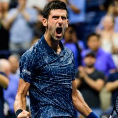 Novak Djokovic beats John Millman at the US Open quarterfinals