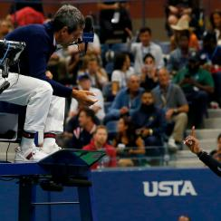 Serena Williams us open coaching controversy carlos ramos