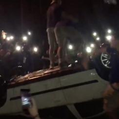kentucky-fans-flip-car