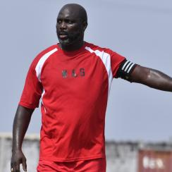 George Weah: Liberia president plays for national team
