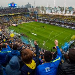Boca Juniors plays in La Bombonera