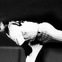 Ron Guidry, yankees, red sox, 14 back, Ron Guidry yankees, yankees standing ovation
