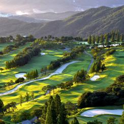 A golf course in Seoul, South Korea.