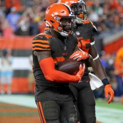 Carlos Hyde: Browns RB's wife has baby after Jets game