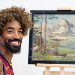 jr smith, cavaliers, cavs, cavs media day, jr smith bob ross, Bob Ross, cavaliers media day, lebron james