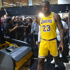 LeBron James And The Los Angeles Lakers Media Day