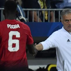 Jose Mourinho and Paul Pogba remain at odds at Manchester United