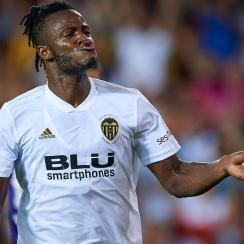Michy Batshuayi is on loan at Valencia